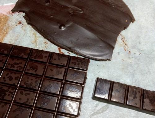 Chocolate negro casero