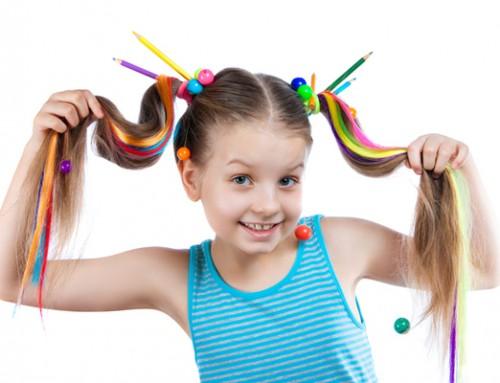 Un arcoíris en el pelo de tus hijos